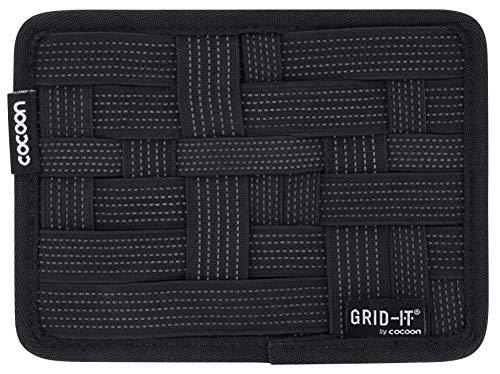 Grid-it Organizer (Cocoon GRID-IT XS - Taschen Organizer mit elastischen Bändern / Praktischer Organizer für Aktentasche, Handtasche, Koffer / Wand Organisationssystem mit Schlaufe & Mouse Pad / Schwarz - 17,8x1x12,7 cm)