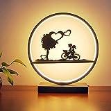 Goney Einfaches modernes nordisches amerikanisches kreatives Dimming der Tischlampe-kreisförmige LED, das für Schlafzimmer/Nacht/Wohnzimmer beleuchtet (Farbe : Bike-L)