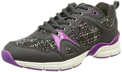 Mustang 1208302, Sneakers Basses femme Gris (274 Graphit/Lila)