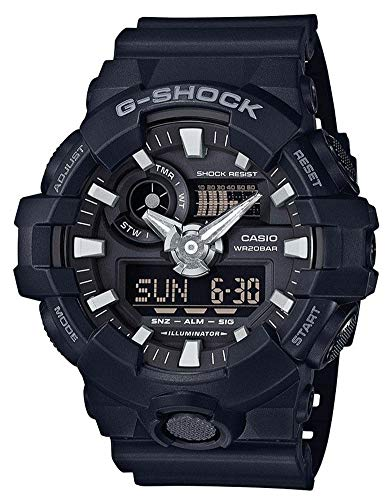 Casio G-Shock Analog-Digital Herrenarmbanduhr GA-700 schwarz, 20 BAR