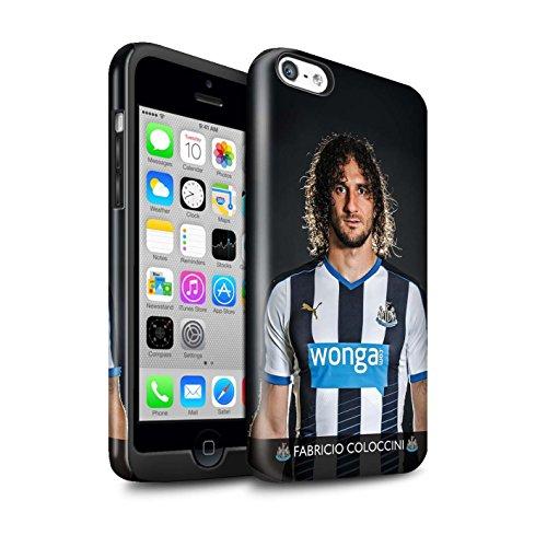 Offiziell Newcastle United FC Hülle / Glanz Harten Stoßfest Case für Apple iPhone 5C / Pack 25pcs Muster / NUFC Fussballspieler 15/16 Kollektion Coloccini