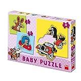 Dinotoys 325012 Hochwertige Kreativpuzzle Puzzle für BabysKleines Maulwurf Motiv 3 + 4 + 5 Stück