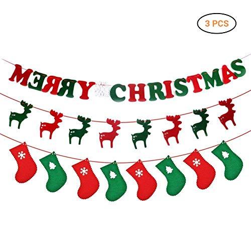 Comtervi Weihnachts Aufkleber-Schöne White Christmas Tree Deer und Weihnachten Removable Snow Ball Wandaufkleber Wandbilder für Shop Home Wand Fenster Xmas Aufkleber Dekorationen