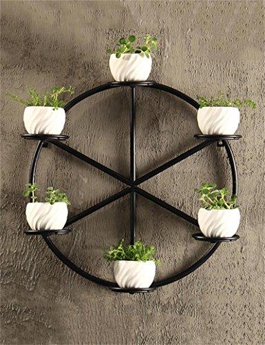 en Pflanze steht Kreative Wand hängende Eisen Blumentopf Regal Indoor Blumendekoration Pflanze Topfhalter Blume Stand Wohnzimmer Balkon Indoor Blumenregal (mit 6 Keramik Blumentöpfe) Im Freien Kraut Blumen Pflanze steht (Pflanze Stand Für Kräuter)