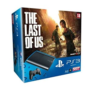 PlayStation 3 – Konsole Super Slim 500 GB (inkl. DualShock 3 Wireless Controller + The Last of Us)