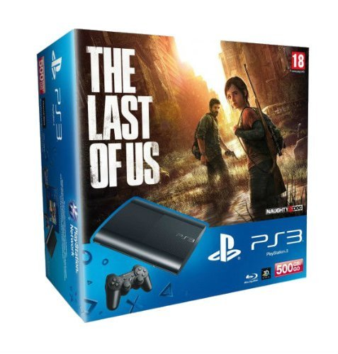 PlayStation 3 - Konsole Super Slim 500 GB (inkl. DualShock 3 Wireless Controller + The Last of Us) (Bundle Gb 500 Ps3)