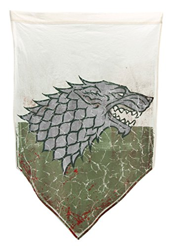 Game of Thrones Stark 27 x 45 in Battle Worn Bandera