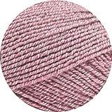 Lana Grossa Meilenweit 100 Cotton Stretch Uni 8047 Altrosa 100g