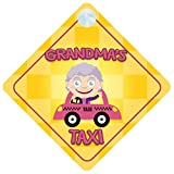 Grandmas Taxi Car Sign Funny Novelty Gift / Present Baby on Board Style Sign