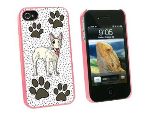 Graphics and More Bull Terrier of Awesomeness - Snap On Hard Protective Case for Apple iPhone 4 4S - Pink - Carrying Case - Non-Retail Packaging - Pink