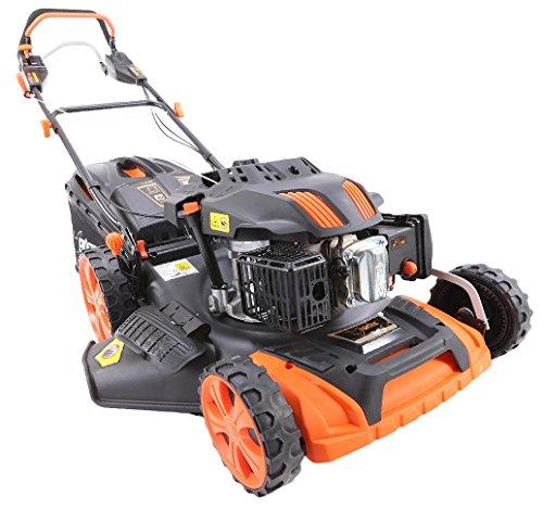 FUXTEC FX-RM2060PRO BENZIN RASENMÄHER mit 200cc Motor und FlexSpeed Getriebe Radantrieb Mulchen Seitenauswurf Fangkorb