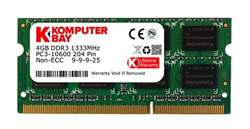 Komputerbay 4GB DDR3 SODIMM (204 pin) 1333Mhz PC3 10600 4 GB (9-9-9-25) -inkompatibel zu MAC (Vaio Cw-serie)