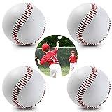 HIMETSUYA 4 Stücke Sport Baseball Trainingsspiel gewidmet Ball Anfänger Jugend Baseball bälle Softball Weiß