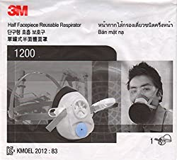 3M 1200 Half Face piece Reusable Mask Respirator, Pack of 1