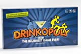 Drinkopoly - the King of Drinking Games - Combined Board/Table Party Games for Adults and Students with 50 Cards with Tasks, an (Un)Forgettable Experience, A Drinking Game Set