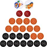 #10: imtion Combo 24 pcs wooen Carrom Board Coins / goti ,2 Striker,1 Powder + [ Free 1 pcs Mechanical Pencil ] cm
