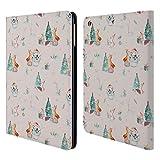 Head Case Designs Offizielle Kristina Kvilis Wald Muster Weihnachtstiere 2 Brieftasche Handyhülle aus Leder für iPad Air (2013)