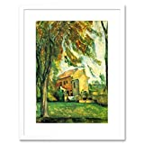 Wee Blue Coo Cezanne The Pond of Jas De Bouffan in Winter Framed Wall Art Print Inverno Parete