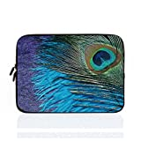 Protection Laptop Sleeve Dell XPS 11.6 12 Inch Cute Peacock Feathers Notebook Computer Case for Apple MacBook Acer Samsung Ultrabook Lenovo HP Sony Powerbook Water Resistance Neoprene Sleeve