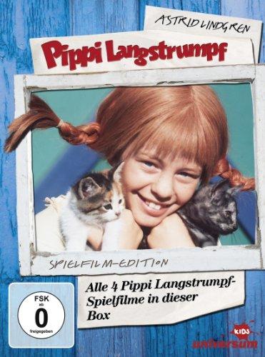 Astrid Lindgren: Pippi Langstrumpf - Alle 4 Pippi Langstrumpf-Spielfilme in dieser Box (Spielfilm-Edition, 4 Discs)