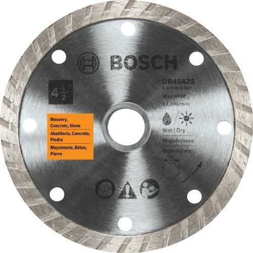 Turbo Rim Diamond Blade (Bosch DB4542S 4-1/2-Inch Turbo Rim Diamond Blade by BOSCH)