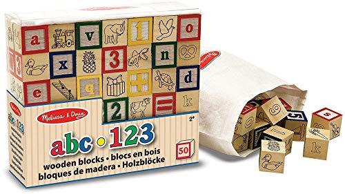 Melissa & Doug Holz ABC / 123 Blocks (Und Melissa Holz-blöcke Doug)
