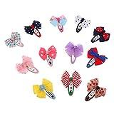 MagiDeal 12er Set Baby Mädchen Haarschleifen Haarspange Haarklammern Süß Bowknot Fliege Haarschmuck Geschenkset - Farbe 2