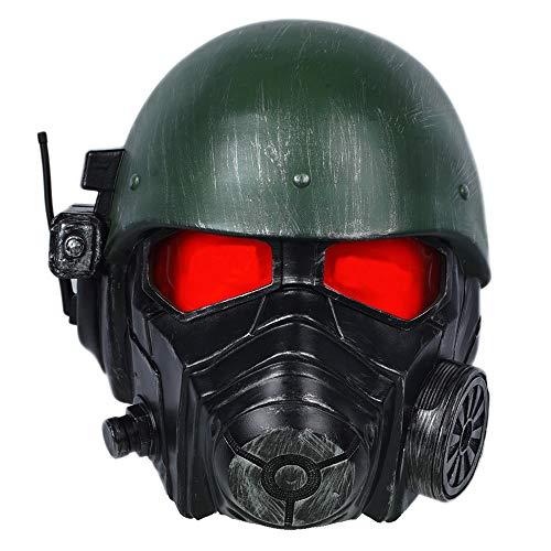 Halloween Cosplay Helm Deluxe Veteran Ranger Riot Armor Maske Erwachsene Verrückte Kleid Kostüm Props Zubehör (Red Ranger Deluxe Kostüm)