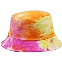 Unisex Mens Womens Bucket Cappelli Leggero Clan Caratteristiche Salvaspazio Colorato Cappello Pescatore Tie-Dye