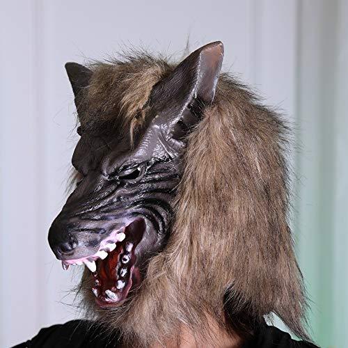 Quaan niedlich kreativ Halloween Karikatur Kürbis Party Cosplay Maske Terror Maske Wolf Geist Maske Cosplay Kostüm Party Halloween Vampir Zombie Party Zuhause Lager Geschenk Festival Dekorationen
