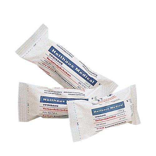 Preisvergleich Produktbild 10 x YPSISAVE Verbandpäckchen groß steril10 x 12 cm