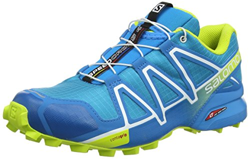 Salomon Speedcross 4 GTX, Zapatillas de Trail Running Hombre, Multicolor (Hawaiian Surf/Acid Lime/White), 42 2/3 EU