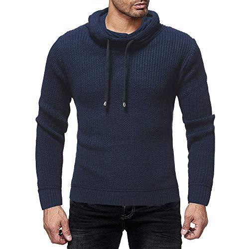 ITISME Herren Pullover Hoodie Kapuzenpullover Strickpullover Longsleeve Sweater Sweatshirt Pulli