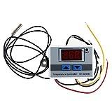 JZK 220V riscaldamento e raffreddamento termostato digitale regolatore con sensore sonda NTC impermeabile per stufetta, refrigeratori, frigorifero, acquario, caldaia, vapore,temperatura termostato