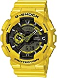 Casio G-Shock Yellow Analog Digital Dial Resin Quartz Men's Watch GA110NM-9A