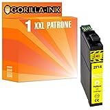 Gorilla-Ink® 1x Tinten-Patrone XXL für GI2714 kompatibel zu Epson Gelb WorkForce WF-3600 Series WF-3620 DWF WF-3620 WF WF-3640 DTWF WF-7110 DTW WF-7600 Series WF-7610 DWF WF-7620 DTWF