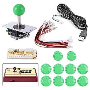 XCSOURCE Zero Delay Arcade Game USB Encoder PC Joystick DIY Kit for Mame Jamma & Other PC Fighting Games