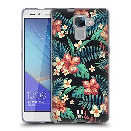 Head Case Designs Bloom Imprimées Tropicaux Étui Coque en Gel molle pour Huawei Honor 7