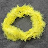 2m Feder Strip Fluffy Craft Kostüm Night Dressup Hochzeit Fancy Party, Feder, gelb, Einheitsgröße