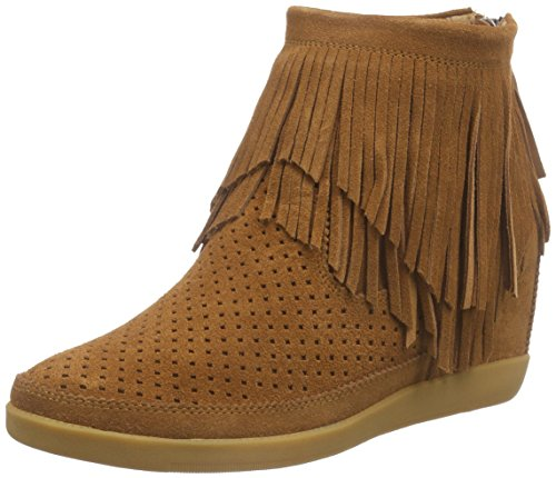 Shoe Closet Emmy Fringes Brown, Scarpe da Ginnastica Alte Donna Marrone (Brown)