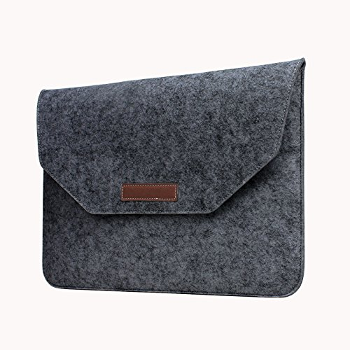 Liamoo MacBook Air 11 - 11,6 Zoll Tasche aus Filz, Apple MacBook Retina Laptop Schutzhülle Sleeve Hülle in schwarz (Apple Macbook Air 11 Sleeve)