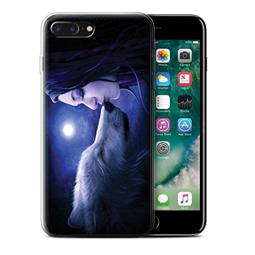 Officiel Elena Dudina Coque / Etui Gel TPU pour Apple iPhone 7 Plus / Bain Caché Design / Un avec la Nature Collection Baiser de Lune