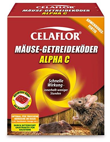 Celaflor Mäuse-Getreideköder Alpha C, Anwendungsfertiger, attraktiver Köder zur Bekämpfung von Mäusen mit innovativem Wirkstoff, 10x 10 g...
