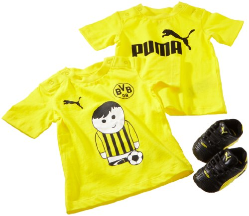 Puma Baby Set BVB King Finale Crib Pack, Black-Blazing Yellow, 2/68, 102838 01 -