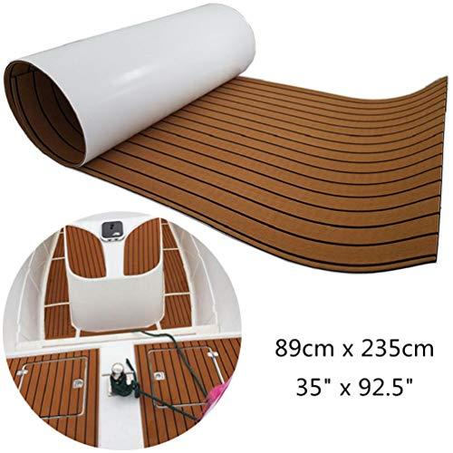 yuanjiasheng 890mm x 2350mm Eva-Schaum bodenbelag für Boote yachtböden Anti rutsch bodenbelag (Licht braun)