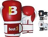 BOUT3 Robust, Guantes de boxeo unisex adulto, rojo, 12 Oz (354 gr)