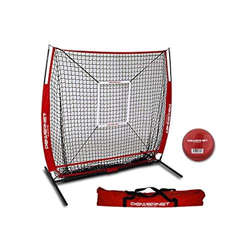 PowerNet Baseball und Softball Praxis Net 5x 5(Paket mit Strike Zone und Training Ball) -
