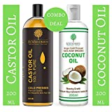 The Balance Mantra Virgin Coconut Carrier Oil, 200ml with Cold Pressed Castor Carrier