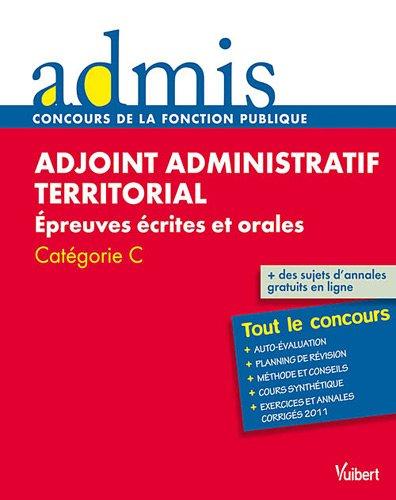 Adjoint administratif territorial Epreuv...