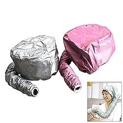 New Home Portable Hair Dryer Diffuser Bonnet Attachment Salon Hairdryer Hair Diffuser Hair Dryer Bonnet Soft Bonnet Random Color HS Light Gray